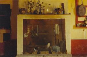 Ecran de cheminée campagne