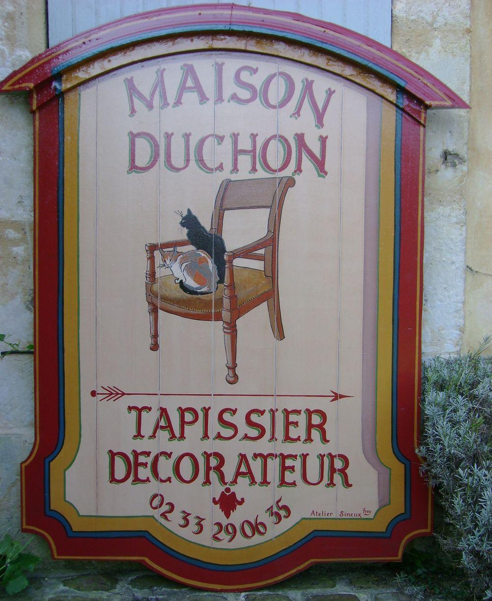Enseigne peintre Tapissier-Décorateur Duchon