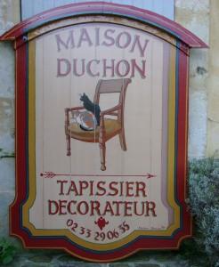 Enseigne peint Tapissier-Décorateur Duchon