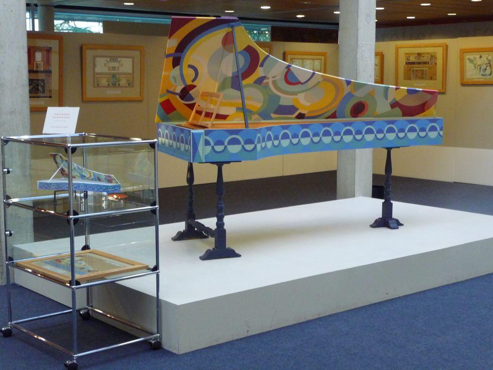 maquette et réalisation d'une peinture sur clavecin