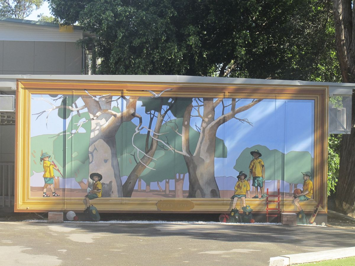 Cammeray PS Treet Tops mural