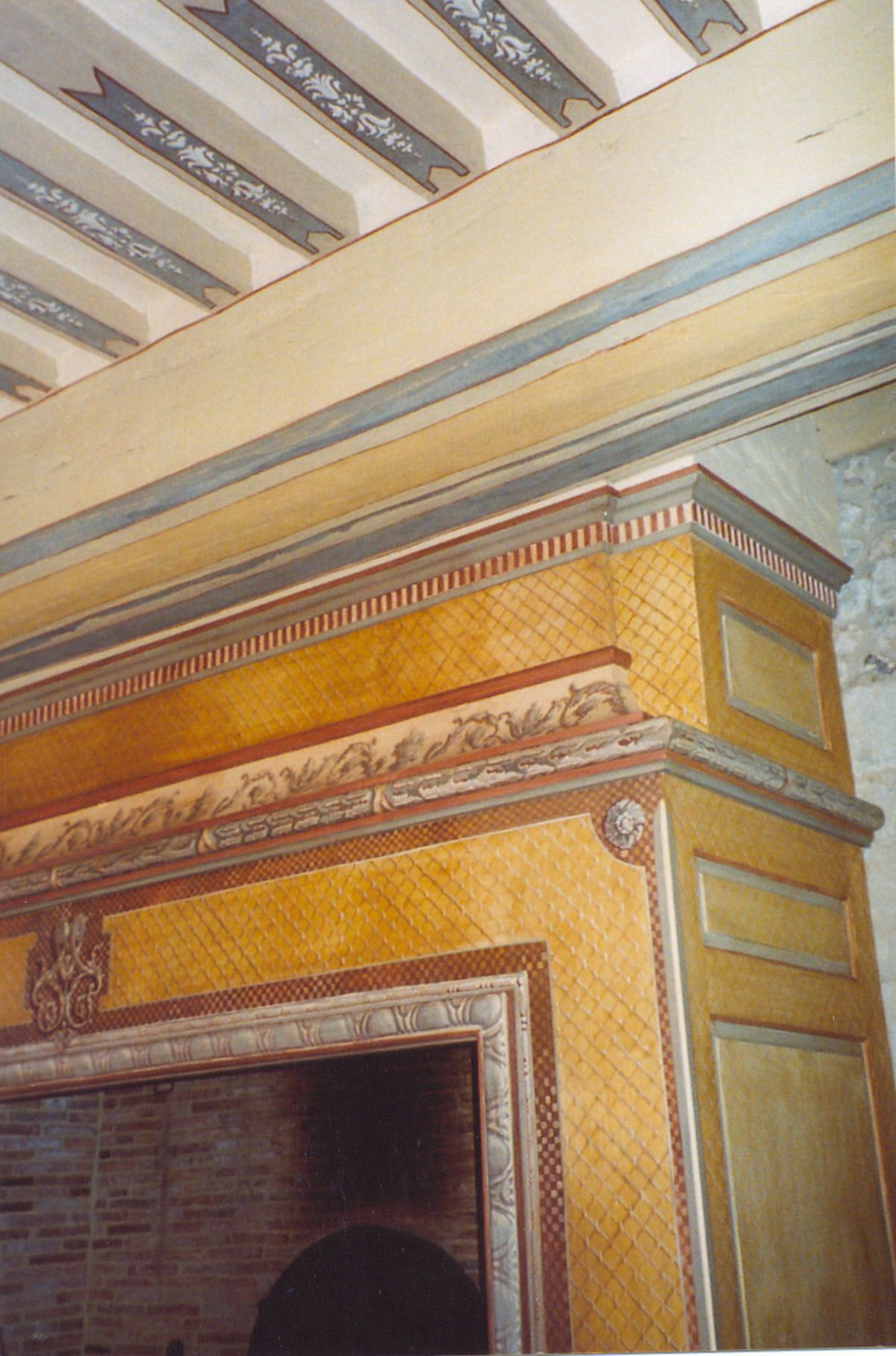 Poutres peintes atelier sineux fr res for Poutres peintes