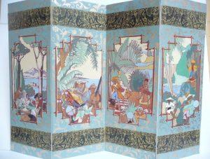 Chinoiseries représentant les quatre continents
