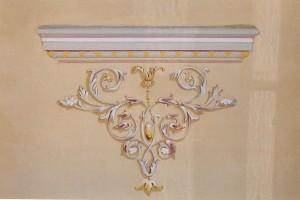 Détail motif peint