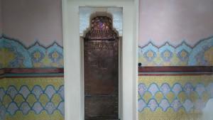 Détail porte en cuivre