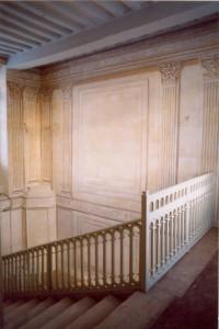 Escalier architecture en trompe l'oeil