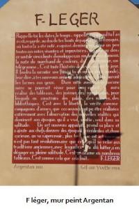 F léger, mur peint Argentan