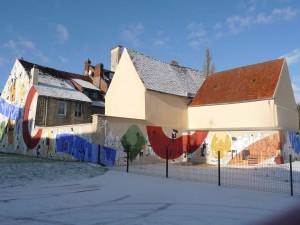 Fresque du marché (hommage à Fernand Léger)