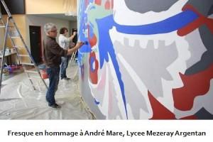 Fresque en hommage à André Mare, Lycee Mezeray Argentan