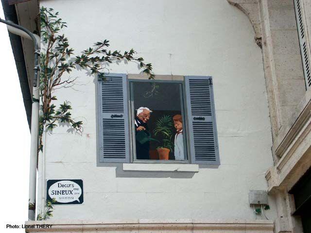 Glycine & fenêtre peints, Angoulême
