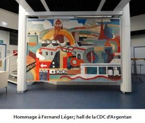 Hommage à Fernand Léger; hall de la CDC d'Argentan