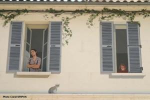 Personnages à la Fenetre peints, Angoulème  (photo rubrique) 1
