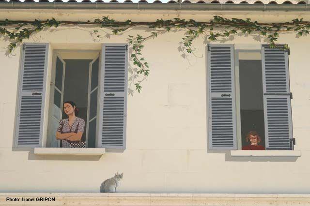 Personnages à la Fenetre peints, Angoulème