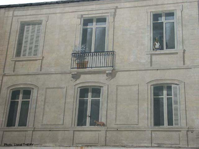 Trompe l'oeil façade, Angoulême