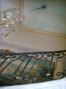 trompe l'oeil ciel cage d'escalier