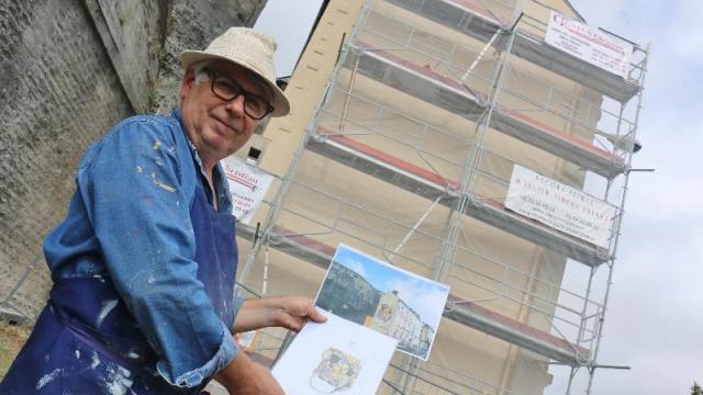 OF - 6 sept 2016 -Dans quelques jours, le visage d'André Mare recouvrira le pignon des bureaux du Syndicat intercommunal de traitement et de collecte des ordures ménagères (Sitcom), tout près de la place de la Poste et du tribunal.