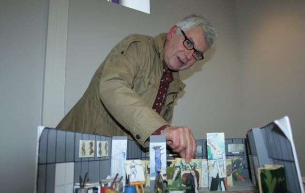 J.O -30/10/2014 -Jean-François Sineux a réalisé une exposition (Quai des arts) autour des carnets d'André Mare, peintre Argentanais et soldat de 1914-1918 et des ateliers de camouflage