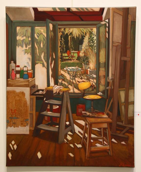 Atelier sur jardin (81x100 cm)