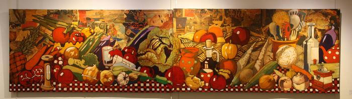 Diptyque (nature morte) (61x120 cm)
