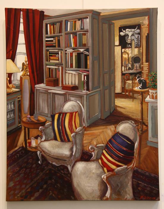 La bibliothèque (73 x92 cm)