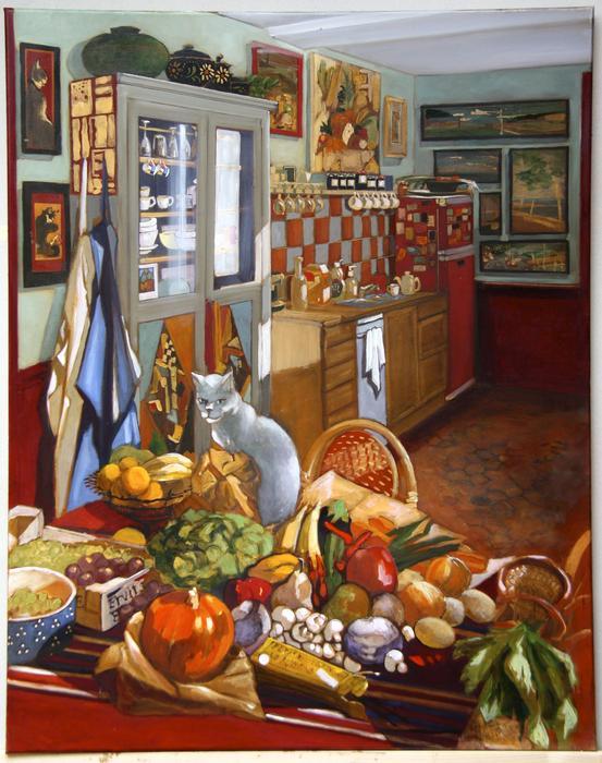 La cuisine (73x72 cm)